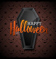 happy halloween with black vector image