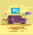home indoor interior flat vector image