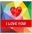 I love you valentines card with heart vector image vector image