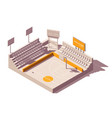 isometric advertising on stadium vector image vector image