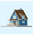 isometric image of a private house vector image vector image