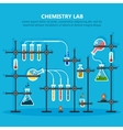 Laboratory or lab for chemical experiments vector image