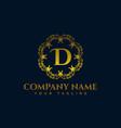 letter d luxury logo vector image vector image
