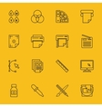 Line printing icons vector image vector image