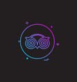 media network social tripadvisor icon design vector image vector image
