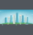 modern city urban landscape buildings and vector image