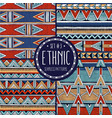multicolor ethnic patterns collection set 4 vector image