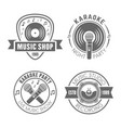 music monochrome labels badges emblems vector image vector image