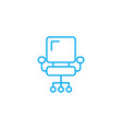 office chair linear icon concept office chair vector image vector image