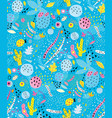 organic shapes abstract collage seamless pattern vector image