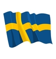 political waving flag of sweden vector image vector image