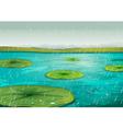 rain on pond vector image