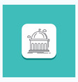 round button for library school education vector image