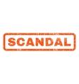 Scandal Rubber Stamp vector image vector image