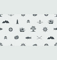 seamless background on pirate and sea theme vector image vector image