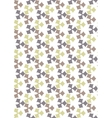 Seamless geometric pattern flowers beautiful vector image vector image