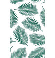 seamless pattern with palms leaf vector image