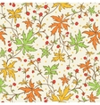 Seamless texture with leafs and berries vector image vector image