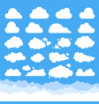 set cartoon clouds vector image vector image