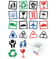 set packing symbol stamps vector image vector image