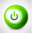 start power sphere button ui icon design on off vector image vector image