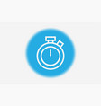 stopwatch icon sign symbol vector image vector image