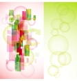 stylish colorful background set vector image vector image