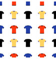 t-shirt seamless pattern or background on vector image vector image