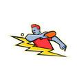 table tennis player lightning bolt mascot vector image vector image