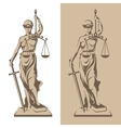 Themis statue vector image vector image
