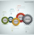 time line info graphic with colorful design of vector image vector image