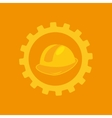 tool box helmet construction icon design vector image vector image