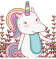 unicorn cute cartoon vector image vector image
