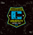 University football team badge vector image vector image