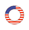 usa button flag vector image