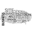 What can affiliates do to benefit your online