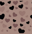 white and black hearts seamless pattern african vector image vector image