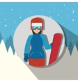 Winter sport wear and accesories vector image vector image