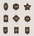 wooden signs hanging on a rope and chain vector image vector image