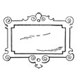 wrought-iron signs strap-work tablet was used in vector image vector image