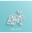 Abstract Background with Floral Easter Rabbit vector image