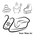 Calligraphic winter drawings vector image