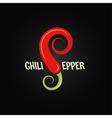 chili pepper design background vector image
