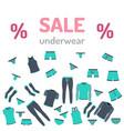 sale set underwear vector image