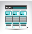 web site news newspaper journal template in a vector image