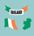 Set template for Ireland Map of Ireland Ribbon vector image