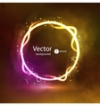 Abstract Dark Glowing Circle Background on Smoky vector image