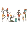 African women in traditional clothes vector image