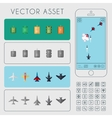 Aircrafts and Tanks Units Set Game Asset vector image