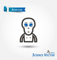 alien icon scientific vector image